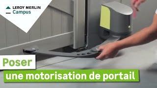 Comment Poser Une Motorisation De Portail Leroy Merlin Youtube