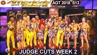 Reyes Del Swing Salsa Dance Troupe America's Got Talent 2018 Judge Cuts 2 AGT