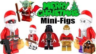 Santa Deadpool Custom Christmas LEGO Minifigures 2017