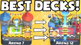 Clash Royale BEST DECK FOR ARENA 7 ARENA 12 DECKS UNDEFEATED | BEST ATTACK STRATEGY TIPS F2P PLAYERS
