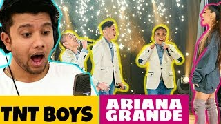 SINGER Reacts to Ariana Grande Surprises TNT Boys f/ 'The World's Best' (at the Late Late Show)