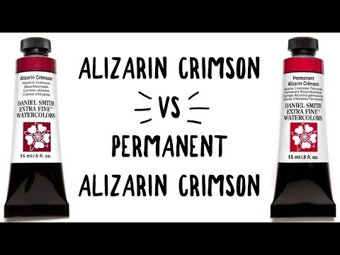 Daniel Smith Color Showdown S2E9: Alizarin Crimson Vs  Permanent Alizarin Crimson