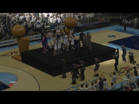 NBA 2K14 - Charlotte Bobcats NBA Finals Introduction & Championship Celebration