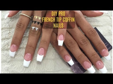 DIY PROFESSIONAL FRENCH NAILS AT HOME $6 !!