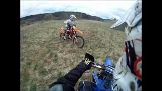 KALI jazda na kole :D KTM 125sx [Poniósł go MOTÓR :) ].wmv