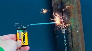 Идея сварки без рук/An idea of welding without using your hands(В этом уроке показан пример сваривания без рук. В целом если у вас нет сноровки или вовсе вы никогда не варил..., 2016-11-19T19:13:31.000Z)