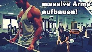 Massive Arme aufbauen - große Arme bekommen - Armtraining - Bizeps & Trizeps