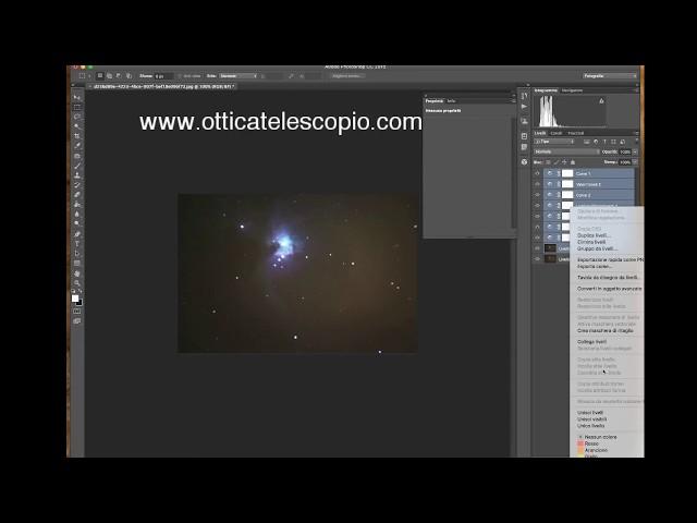 Modifica Foto Astronomica Amatoriale - Nebulosa di Orione