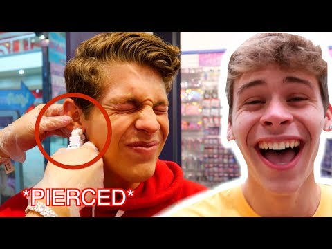 I CONVINCED BEN TO PIERCE HIS EARS!!