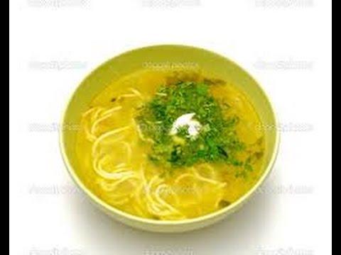 Суп в мультиварке с домашней лапшой и курицей