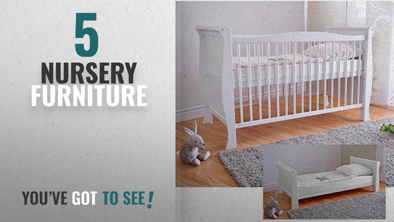 Top 10 Nursery Furniture 2018 Free Uk Delivery White Solid Wood Baby Cot Bed Deluxe Foam