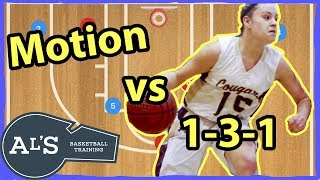Motion Basketball Offense vs 1-3-1 Zone Defense