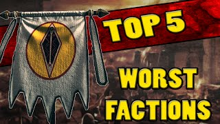 Top 5 WORST FACTIONS in Total War: Rome 2