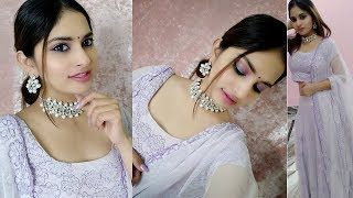Indian Wedding Guest Makeup Look -  Purple Eyes || NehaLovesFashion