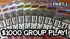 $1000 IN TICKETS! $50 Ultimate Millions Group Book TEXAS LOTTERY SCRATCH OFF TICKETS