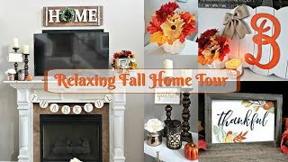 Relaxing Fall Home Tour 2017//Fall Decor For a Small Budget//Fall Decorating Ideas