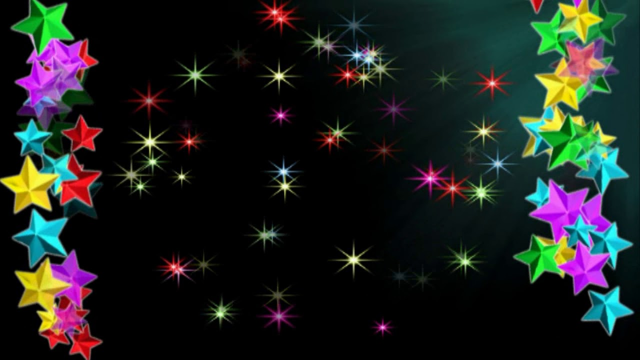 Новогодний футаж - звезды