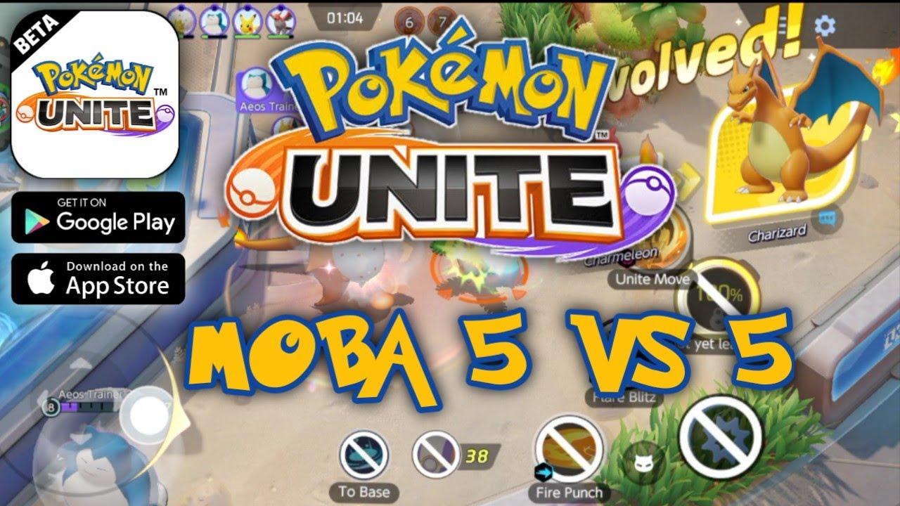 Pokémon UNITE Moba 5 vs 5 Part 1 - Android/ios Gameplay ...