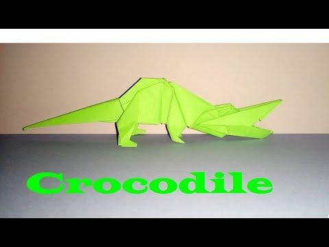 Origami Crocodile /Alligator - How to make a Paper Crocodile