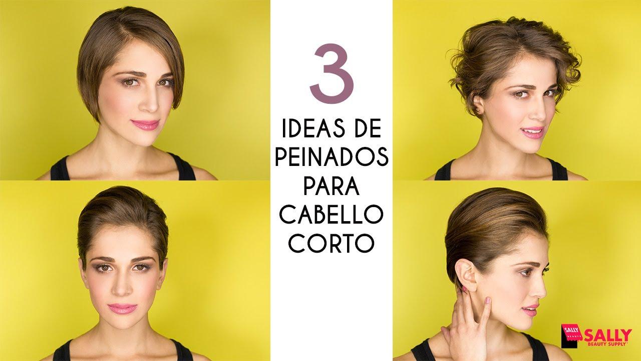3 Ideas De Peinados Para Cabello Corto Youtube