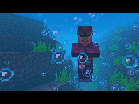 This Minecraft villager lives underwater in Minecraft..