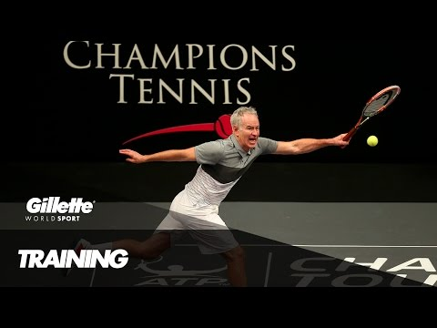 Training the next tennis Champion with John McEnroe | Gillette World Sport