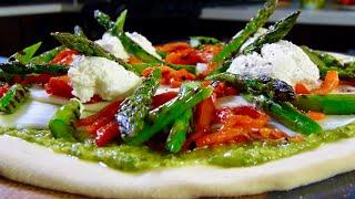 Giardino Fresco Pizza W/ Pesto & Grilled Veggies – Bruno Albouze – The Real Deal