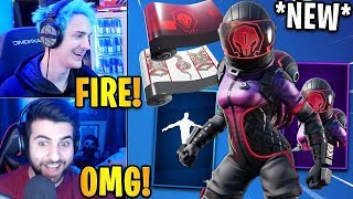 "Streamers React to the *NEW* ""CORRUPTED VOYAGER"" Skin & Moon Bounce Emote! 