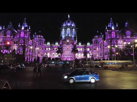 C S T Station (V T) Mumbai (Bombay) At Night