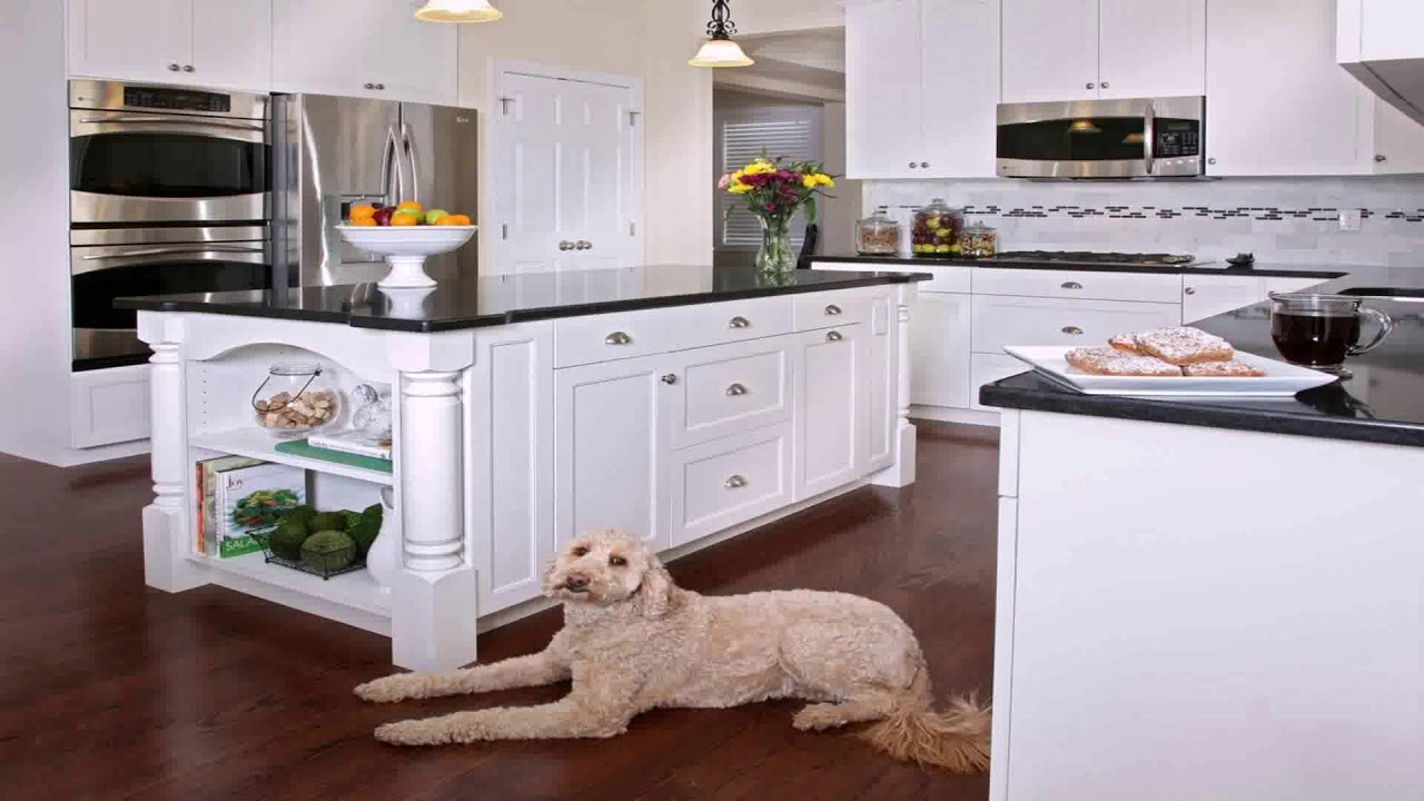 White Kitchen Cabinets With Black Laminate Countertops Youtube