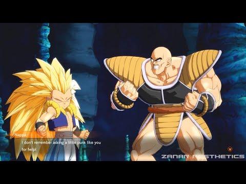 Dragon Ball FighterZ - Gotenks Teaching Nappa How To Turn Super Saiyan