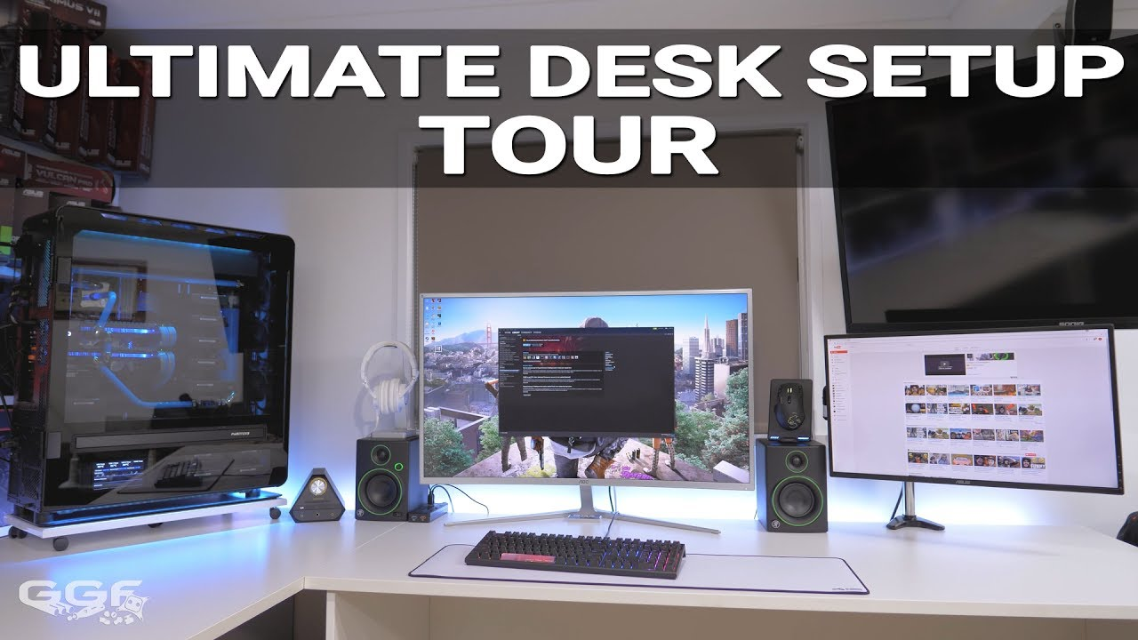 ultimate gaming/workstation desk setup tour. best setup ever