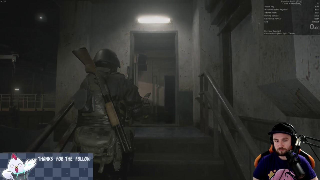 Resident Evil 2 Remake Hunk Speedrun 7 24 Youtube