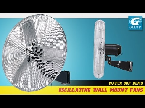 Wall Mount Fan Oscillating Deluxe 24 Quot Youtube