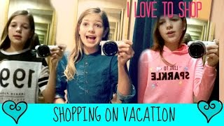 Shopping on Vacation