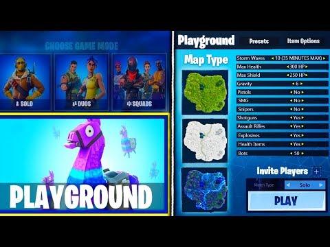 playground mode custom matchmaking