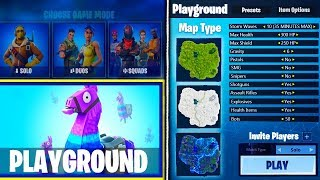 NEW Fortnite PLAYGROUND GAME MODE UPDATE INFO! - Fortnite Private Servers Leaked