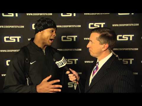 Post-game interview with Saints Running Back, Pierre Thomas