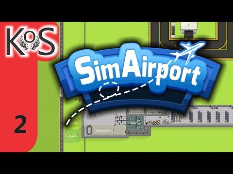SimAirport Ep 2: Automatic Baggage Handling - First Look - Let's Play, Gameplay (Early Access)