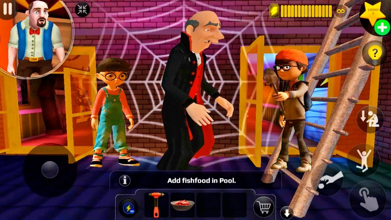 Download Scary Teacher 3D - Vampire Glitch Nick and Tami (Android/iOS)