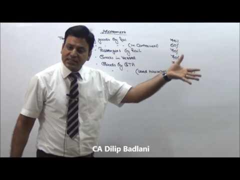 Service Tax : Indirect Tax : AY 17-18 : Abatement
