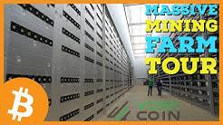 MASSIVE Crypto Mining Farm Tour | Bitcoin, Dash, and GPU Mining!
