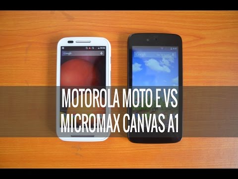 Micromax Canvas A1 vs Motorola Moto E- Detailed Comparison