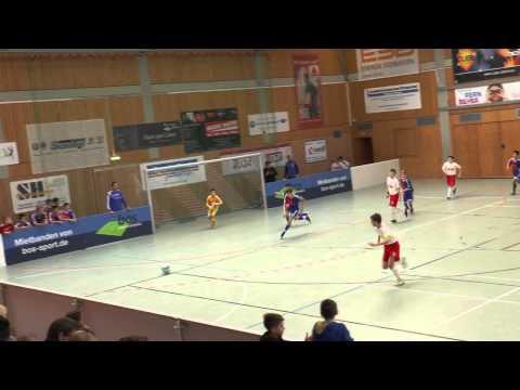 TuS Traunreut U12 Hallenmasters 2015 Spiel 18: FC Basel-Red Bull Salzburg 1:2