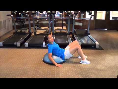 Golf Core Exercises – Ab Crunch on Bosu Ball Balance Trainer