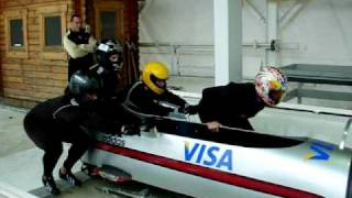 Lake Placid 4 man bobsled practice