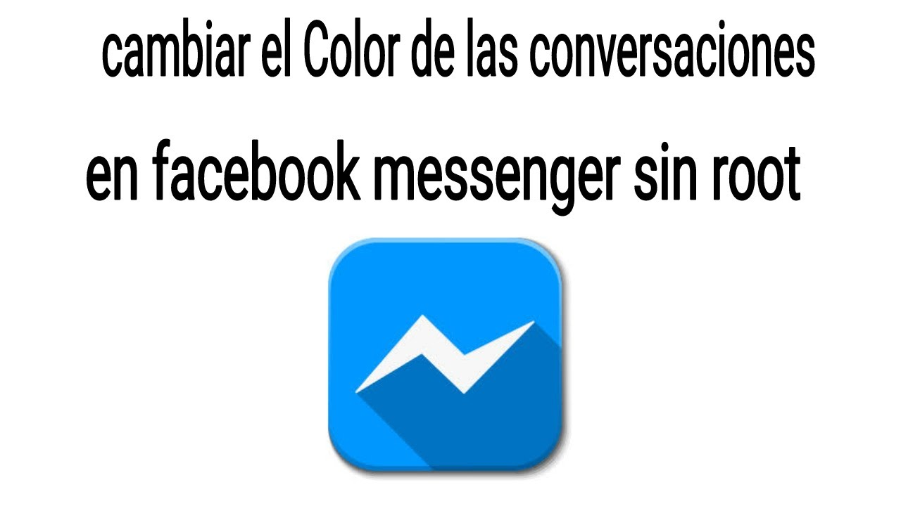 cambiar color messenger: