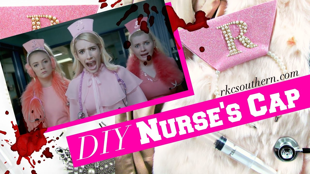 ec32736ff54db Scream Queens Hospital Chanel Oberlin Nurse's Hat DIY Tutorial ...