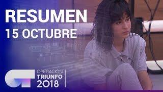 Resumen diario OT 2018   15 OCTUBRE