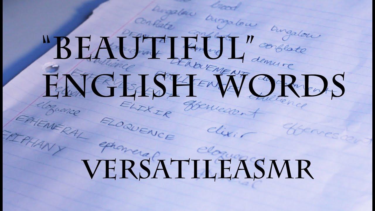 ASMR Beautiful English Words Whispered And Written